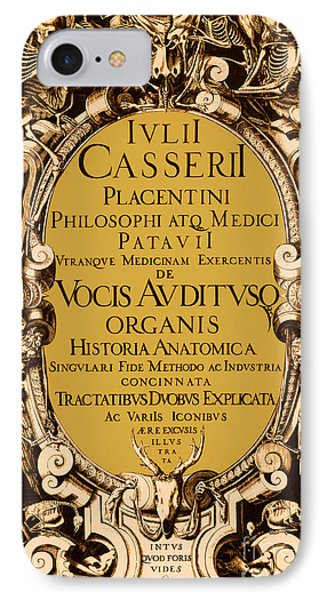 Title Page, Giulio Casserios Anatomy Phone Case by Science Source