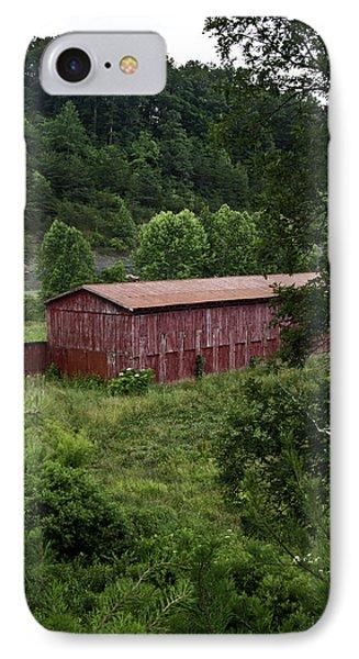 Tobacco Barn From Afar Phone Case by Douglas Barnett