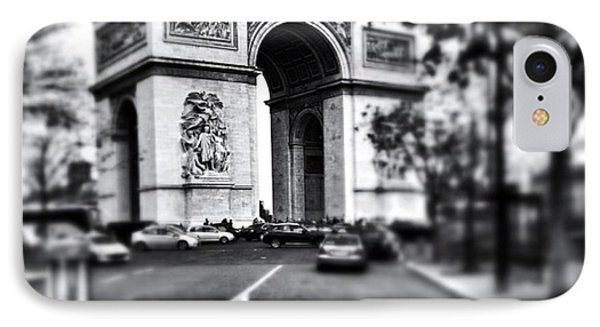 #today #paris #monument #bnw #monotone IPhone Case by Ritchie Garrod