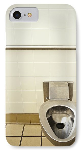 Toilet In A Public Restroom Phone Case by Thom Gourley/Flatbread Images, LLC