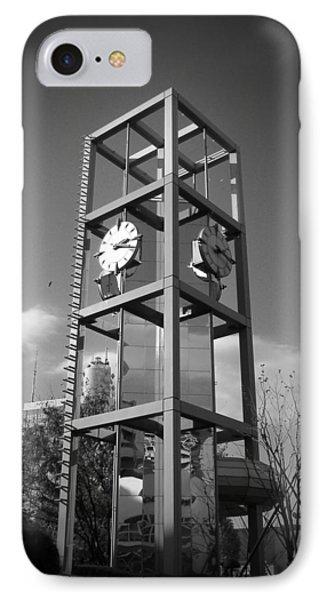 Tokyo City Clock IPhone Case by Naxart Studio
