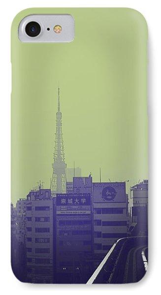 Tokyo City Ride IPhone Case by Naxart Studio