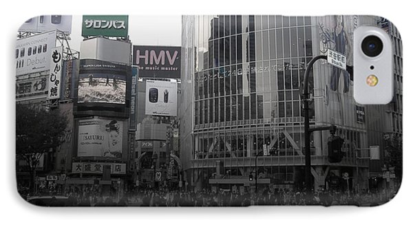Tokyo Intersection 1 IPhone Case by Naxart Studio