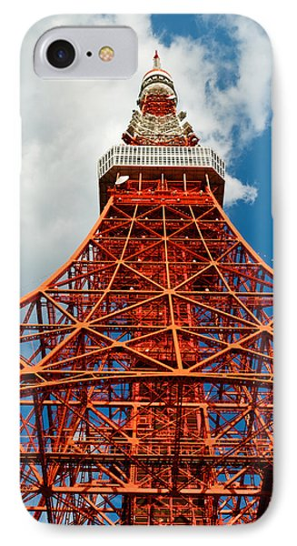 Tokyo Tower Face Cloudy Sky Phone Case by Ulrich Schade