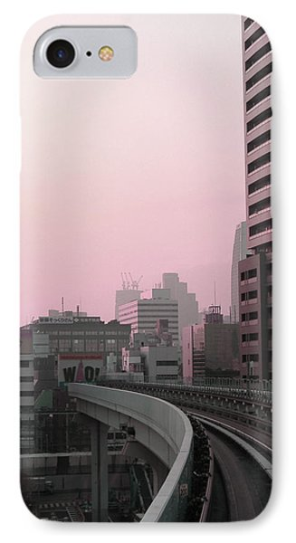 Tokyo Train Ride 6 Phone Case by Naxart Studio