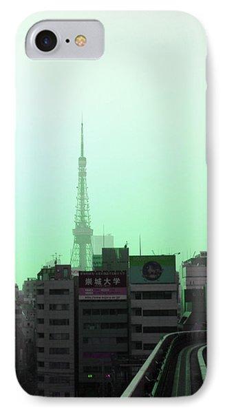 Tokyo Train Ride 7 IPhone Case by Naxart Studio