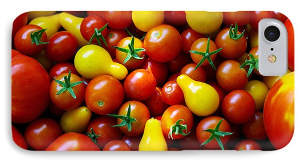 Tomatoes Background Phone Case by Carlos Caetano