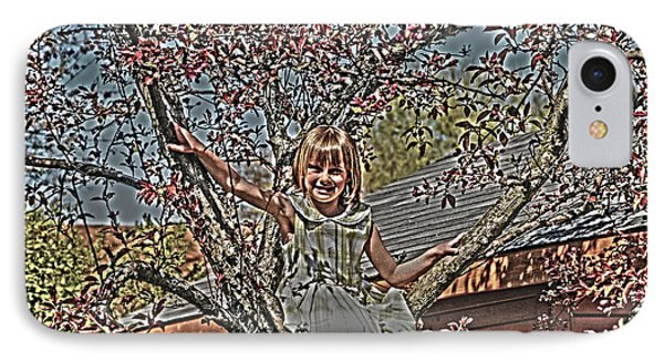 Tomboy In The Tree Phone Case by Randall Branham