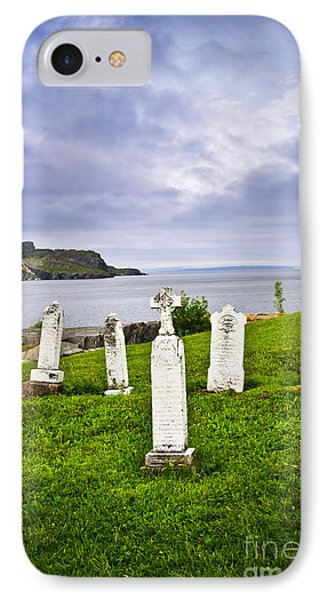 Tombstones Near Atlantic Coast In Newfoundland IPhone Case by Elena Elisseeva