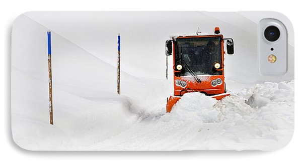 Tons Of Snow - Winter Road Clearance Phone Case by Matthias Hauser