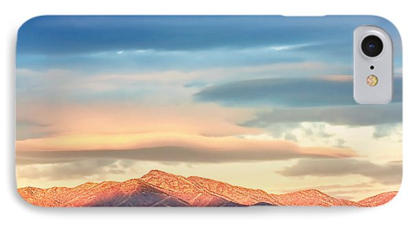 Tooele County Mountains At Sunrise IPhone Case by Tracie Kaska