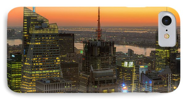 Top Of The Rock Twilight Ix Phone Case by Clarence Holmes
