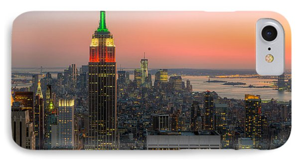Top Of The Rock Twilight X Phone Case by Clarence Holmes