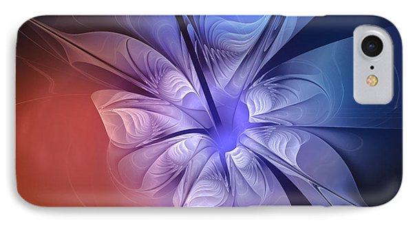 Torn Flower Phone Case by Jutta Maria Pusl