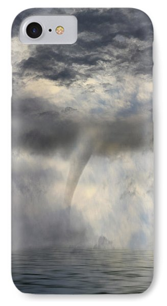 Tornado At The Sea IPhone Case by Angel Jesus De la Fuente
