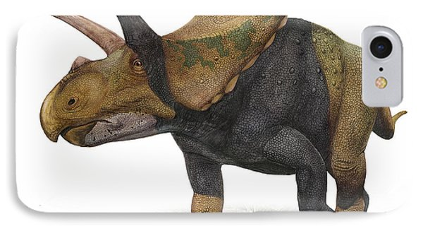 Torosaurus Latus, A Prehistoric Era Phone Case by Sergey Krasovskiy