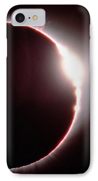 Total Solar Eclipse, Showing A Solar Flare Phone Case by Dr Fred Espenak