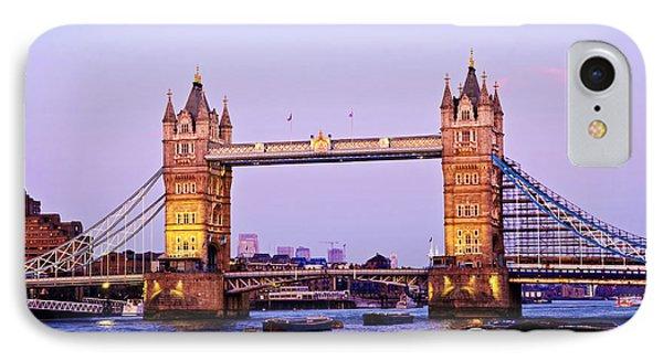 Tower Bridge In London At Dusk Phone Case by Elena Elisseeva