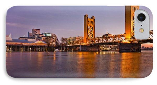 Tower Bridge Over The Sacramento River IPhone Case