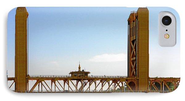 Tower Bridge Sacramento - A Golden State Icon Phone Case by Christine Till