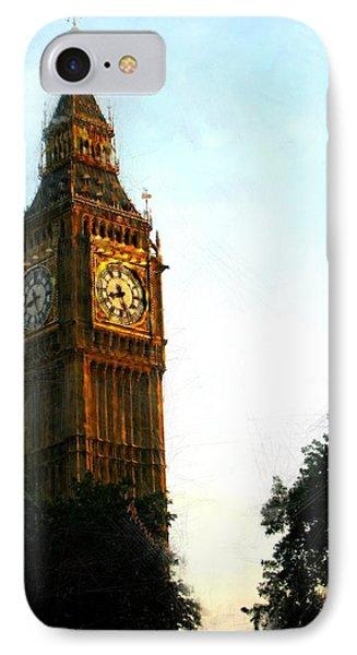 Tower Clock Phone Case by Susan Holsan