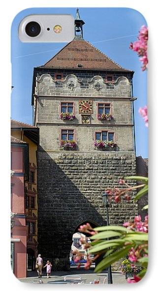 Tower In Old Town Rottweil Germany Phone Case by Matthias Hauser