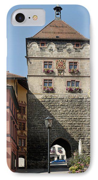 Town Gate Schwarzes Tor In Rottweil Germany Phone Case by Matthias Hauser