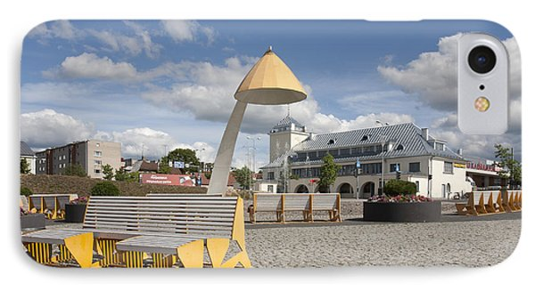 Town Square In Rakvere Phone Case by Jaak Nilson