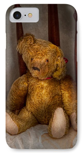 Toy - Teddy Bear - My Teddy Bear  IPhone Case by Mike Savad