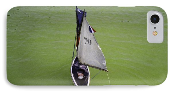 Toy Sailboat On Pond Phone Case by Donna Munro