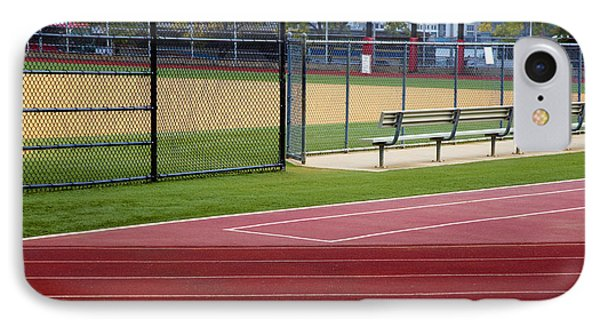 Track And Baseball Diamond Phone Case by Inti St. Clair