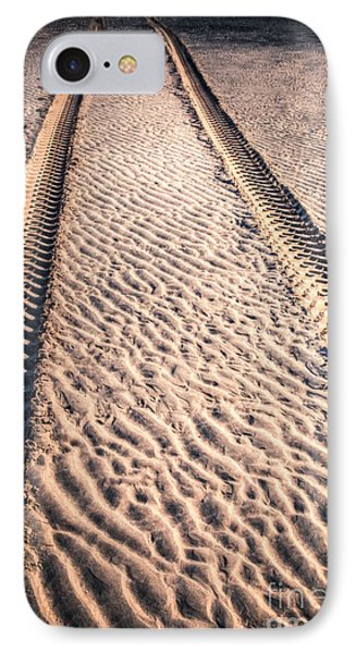 Tracks In The Sand Phone Case by Adrian Evans
