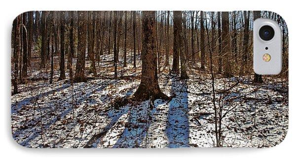 Trail In Winter Phone Case by Susan Leggett