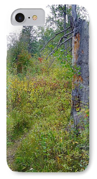IPhone Case featuring the photograph Trail Sign by Jim Sauchyn