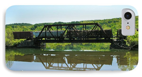 IPhone Case featuring the photograph Train And Trestle by Sherman Perry