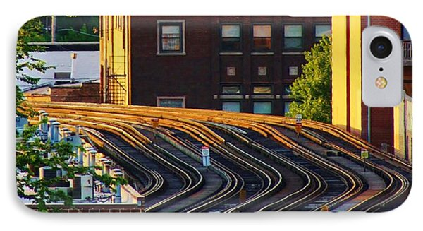 Train Tracks IPhone Case by Bruce Bley