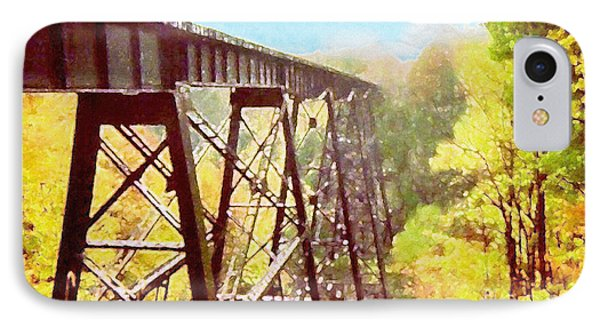 IPhone Case featuring the digital art Train Trestle by Phil Perkins