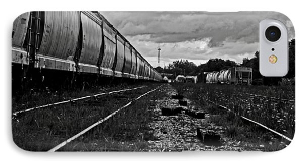 IPhone Case featuring the photograph Train Yard by Randall  Cogle