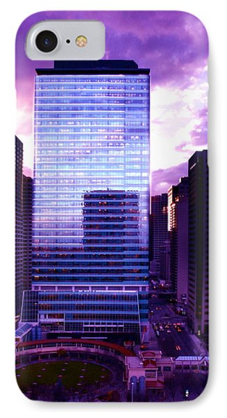 Transalta Building Purple IPhone Case by JM Photography