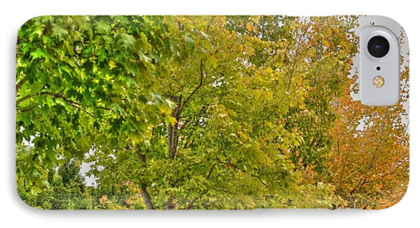 IPhone Case featuring the photograph Transition Of Autumn Color by Michael Frank Jr