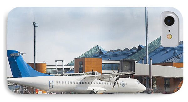 Transport Plane At The Airport IPhone Case by Jaak Nilson