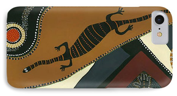 Traveling Goanna Phone Case by Pat Saunders-White