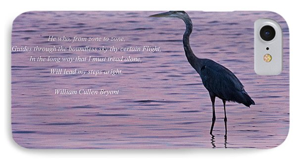Treading Alone   Great Blue Heron  Phone Case by Jonathan Whichard