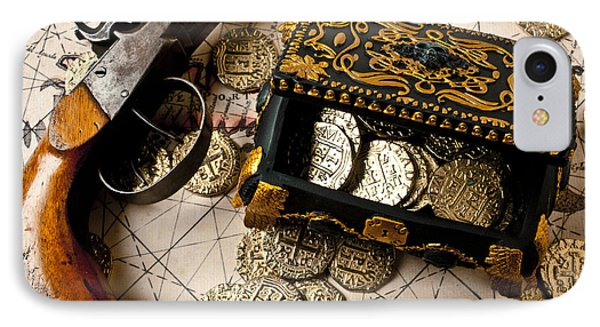 Treasure Box With Old Pistol Phone Case by Garry Gay