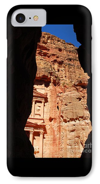IPhone Case featuring the photograph Treasury At Petra In Jordan by Eva Kaufman
