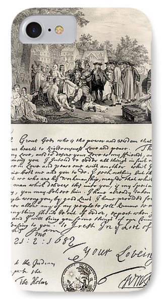 Treaty Between William Penn Phone Case by Photo Researchers