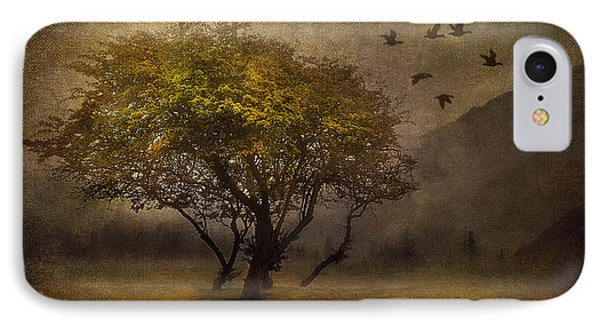 Tree And Birds IPhone Case by Svetlana Sewell