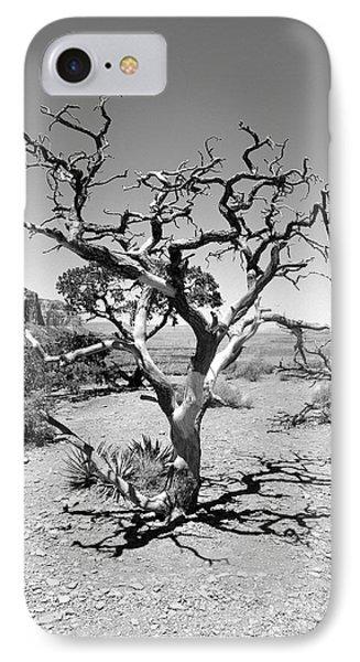 Tree At Cedar Ridge Bw Phone Case by Julie Niemela