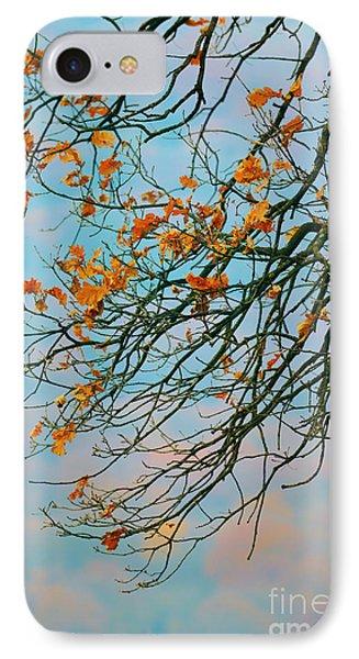 Tree Branches In Autumn Phone Case by Gabriela Insuratelu