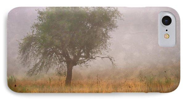 Tree In Fog Phone Case by Debra and Dave Vanderlaan